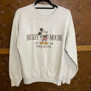 Mickey Mouse Disney  Crew Neck Sweatshirt Vintage